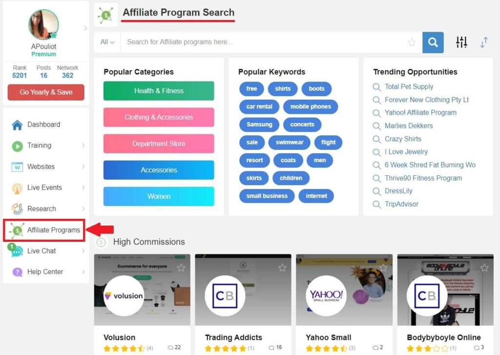 Affiliate Programs Tool - The Best Training For Affiliate Marketing