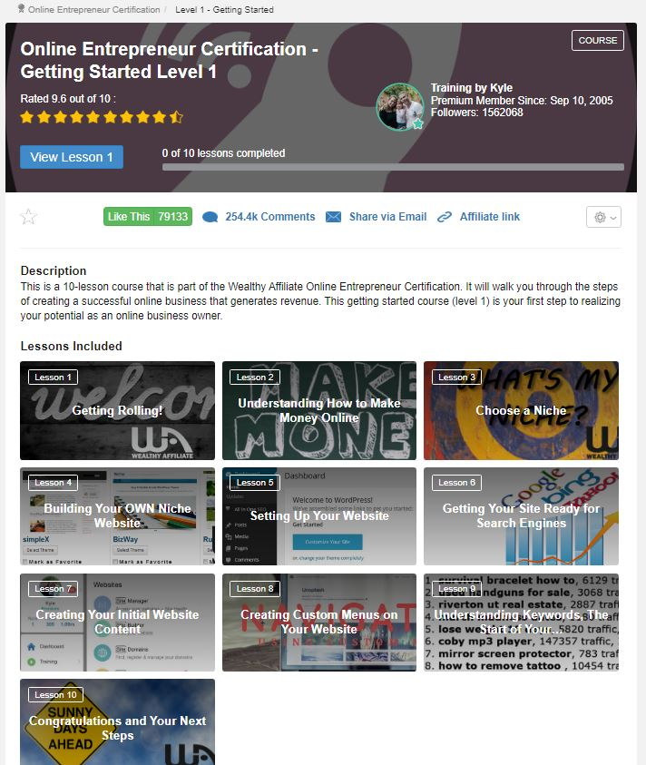 Level 1 - The Best Training For Affiliate Marketing