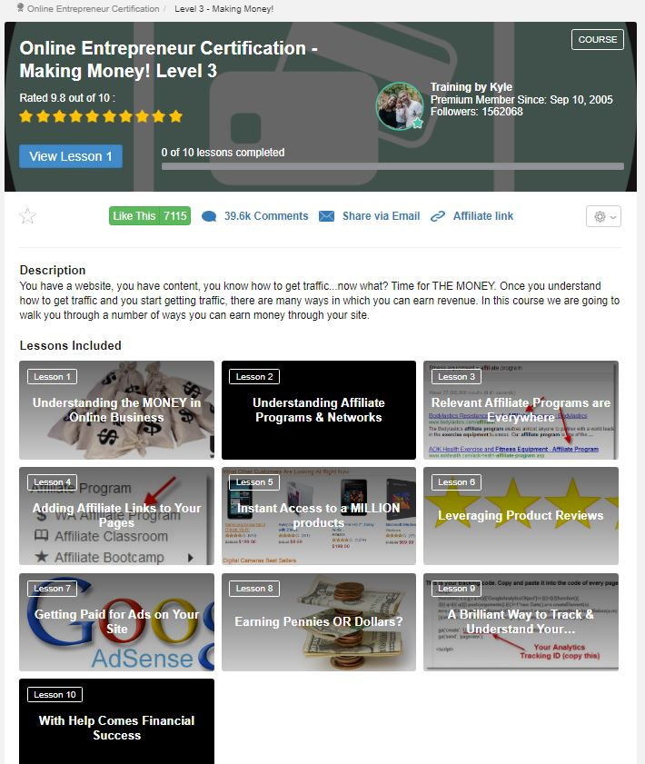 Level 3 - The Best Training For Affiliate Marketing